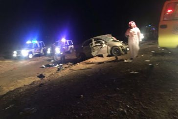 6 حالات وفاة و18 إصابة في ثلاث حوادث بالباحة أمس