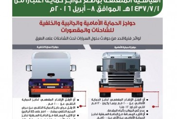 """""""الجمارك""""تمنع دخول الشاحنات التي لا تضع حواجز حماية"""
