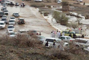مدني الطائف يفك احتجازات في 5 أودية