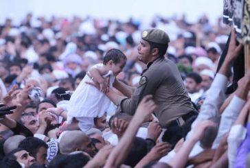 أمطار الجمعة تستنفر جهود القوة الخاصة للمسجد الحرام