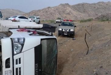 ثلاث إصابات في حادث سير في الباحة