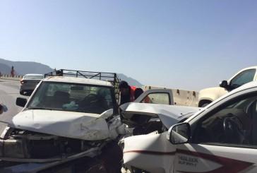 9 حوادث مرورية تُصيب 21 شخصاً أمس بالباحة