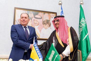 ولي العهد ووزير الأمن بجمهورية البوسنة والهرسك يوقعان اتفاقية تعاون بين البلدين