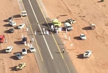 إصابة 8 معلمين ومعلمات على طريق الحناكية – المهد