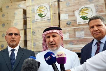 تدشين قافلة برية سعودية من التمور والأدوية والمستلزمات الطبية لعدن وحضرموت