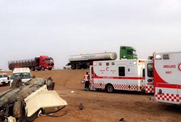 وفاة و6 إصابات في حادث سير بالقصيم
