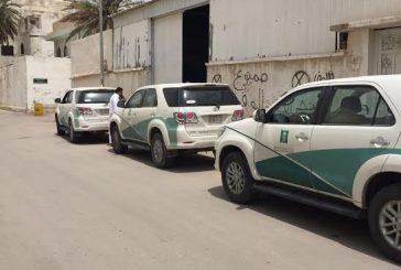 """""""التجارة"""" تكشف عمالة تخزن قطع غيار السيارات المقلدة بمستودعين في الرياض"""
