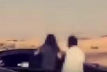 بالفيديو.. شاب يصطحب فتاة في سيارته خلال تجمع للمفحطين.. والجهات المختصة تتعقبه