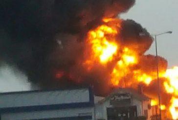 حريق ناقلة وقود داخل محطة القليب سريع المدينة القصيم