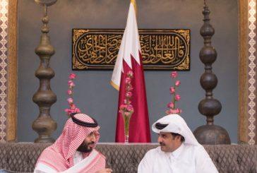 ولي ولي العهد وأمير قطر يبحثان العلاقات الأخوية وتطورات الأحداث في المنطقة