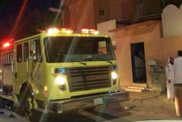 إصابة 8 أشخاص بينهم أحد رجال الدفاع المدني في حريق بالخفجي