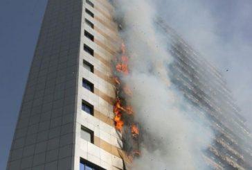 السيطرة على حريق فندق بحي الشهداء في مكة