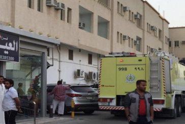 الدمام : حريق في مبنى شقق مفروشة بحي المحمدية