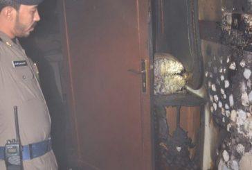 بالصور .. الدفاع المدني بالجوف ينقذ عائلة من حريق في منزلهم