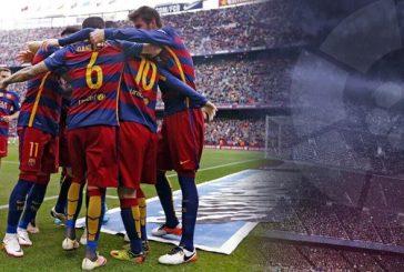 برشلونة يحرز لقب الدوري الاسباني لكرة القدم بفارق نقطة عن غريمه ريال مدريد