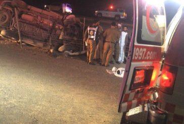 مصرع شخصين وإصابة 7 في حادث سير بالقصيم