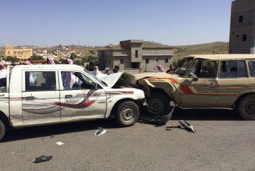 إصابة 11 طالباً في حادث سير بالقرب من مدرستهم بالباحة