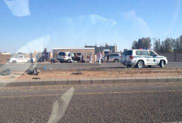 وفاة إمرأة وإصابة ثلاثة في حادث سير على الطريق الدولي بالجوف