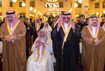 ولي العهد يؤدي صلاة الميت على سمو الأميرة الجوهرة بنت فهد بن عبدالعزيز