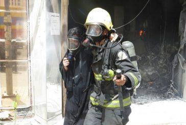 إنقاذ خمس عاملات وإخلاء 15 أخريات من حريق ببريدة