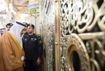 خادم الحرمين الشريفين يزور المسجد النبوي