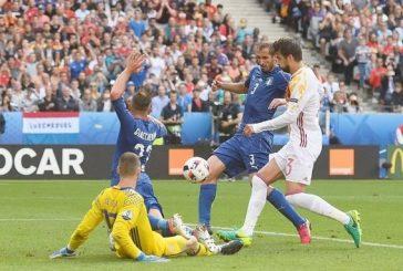 إيطاليا تطيح بأسبانيا حاملة اللقب وتلاقي ألمانيا في ربع النهائي