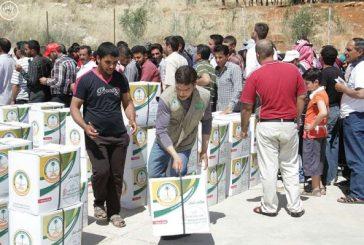 الحملة السعودية توزع وجبات الإفطار على اللاجئين السوريين