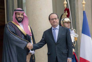 ولي ولي العهد يصل فرنسا ويلتقي بالرئيس الفرنسي بقصر الأليزيه