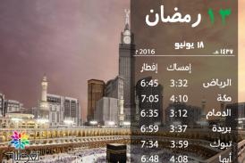 إمساكية 13 رمضان
