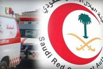 مسعف بالهلال الأحمر يباشر حادث بالجوف ويفاجأ بوفاة إحدى أخواته فيه