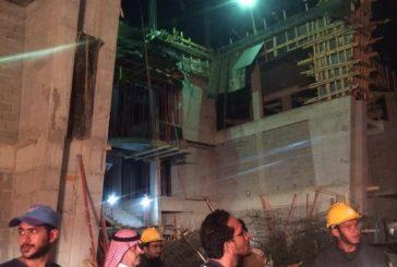 7 إصابات في انهيار مبنى قيد الإنشاء على طريق الوجه املج