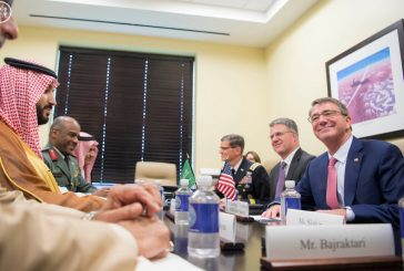 ولي ولي العهد يلتقي وزيري الدفاع الأمريكي والفرنسي