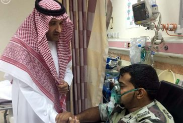 أمير المدينة المنورة يزور رجال الأمن المصابين جراء حادث التفجير الإرهابي