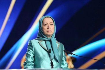 """مريم رجوي: إسقاط """"ولاية الفقيه"""" الحل لإنقاذ البلاد"""