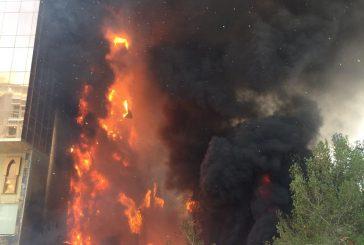 بالفيديو.. حريق في أحد الفنادق في مكة