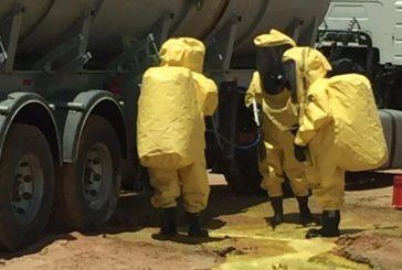 """""""مدني عرعر"""": السيطرة على تسرب مادة كيميائية"""