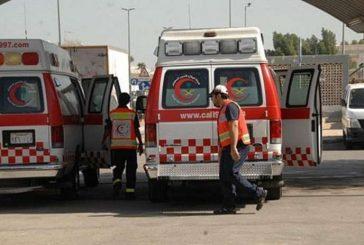 10 إصابات في حادث انقلاب صباح اليوم بالطائف