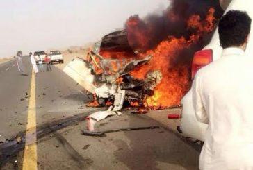 حالة وفاة و14 إصابة في حادثين منفصلين بمنطقه عسير