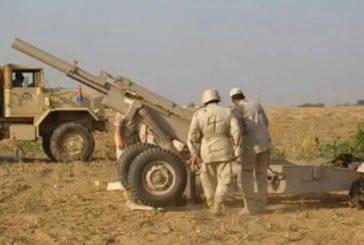 المدفعية السعودية تقصف مواقع لميليشيات الحوثي قبالة منطقة جازان