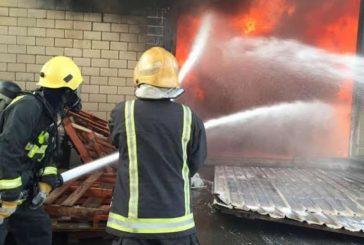 الدفاع المدني يسيطر على حريق بمستودعات جنوب جدة