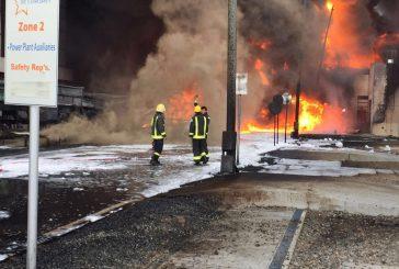 تعرض محول كهرباء لحريق بنجران إثر سقوط مقذوف عسكري من داخل الأراضي اليمنية