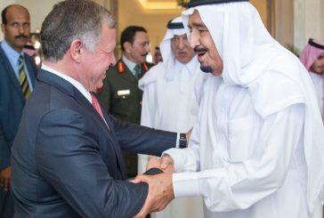 بالصور.. خادم الحرمين الشريفين يستقبل ملك الأردن في طنجة