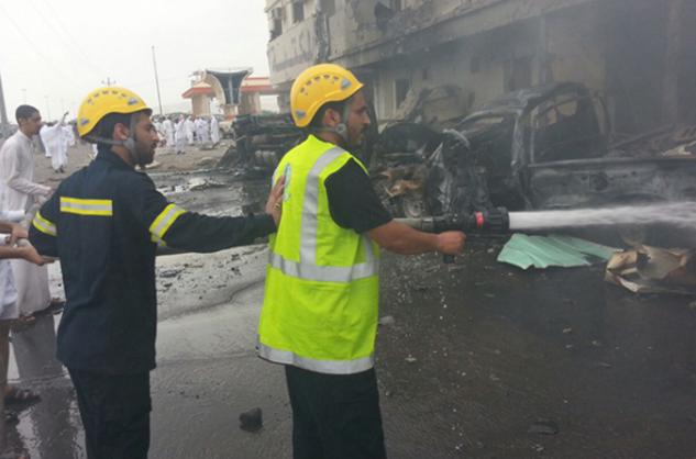 استشهاد مواطن وإصابة 6 مقيمين نتيجة سقوط مقذوف من الأراضي اليمنية