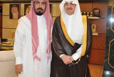 أمير المنطقة الشرقية يستقبل شقيق الشهيد فيصل الحربي