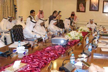 وزير البيئة والمياه والزراعة ورئيس الأرصاد ومحافظ التحلية يزورون هيئة المساحة الجيولوجية