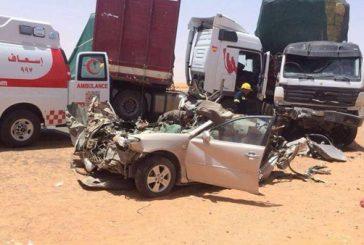 ثمانية إصابات نتيجة حادث تصادم بالجوف