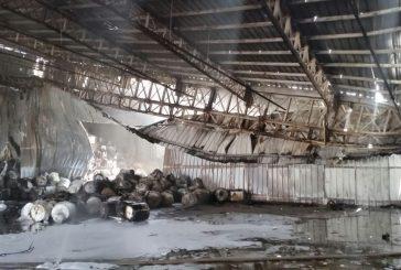 حريق في مستودع لمواد البناء بمدينة نجران