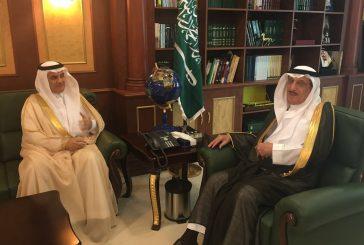 أمير منطقة جازان يستقبل وزير البيئة والمياه والزراعة