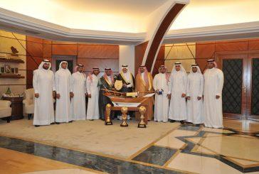 أمير المنطقة الشرقية يستقبل رئيس و أعضاء مجلس إدارة نادي النور الرياضي