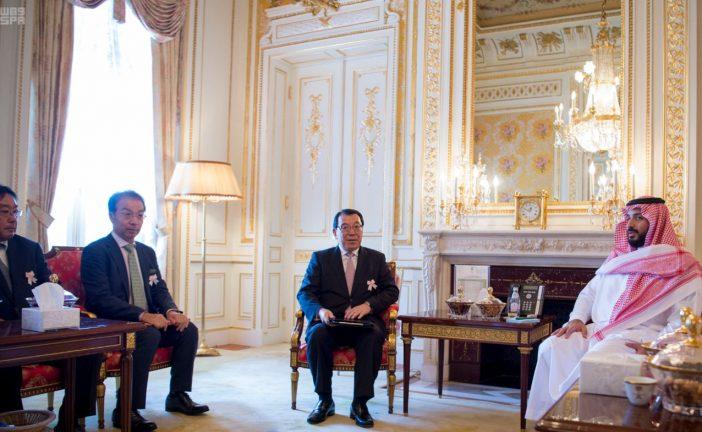 ولي ولي العهد يلتقي رئيس جي اكس اليابانية